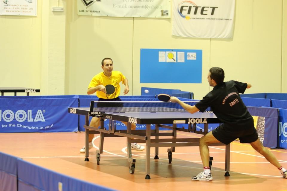 Il match tra Lucesoli e Crotti (Foto Gianluca Piu)