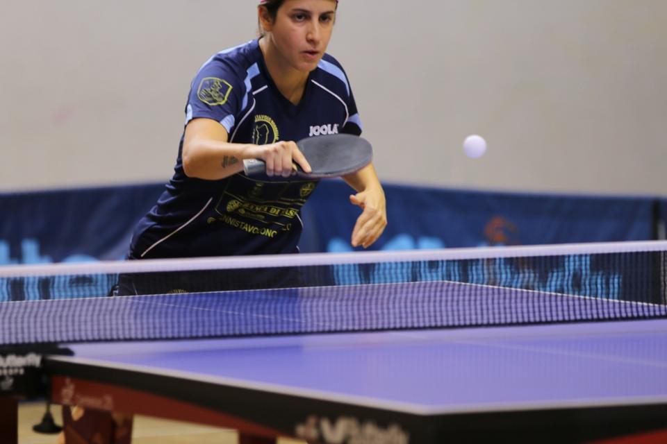 Marina Conciauro del Tennistavolo Norbello (Foto Gianluca Piu)