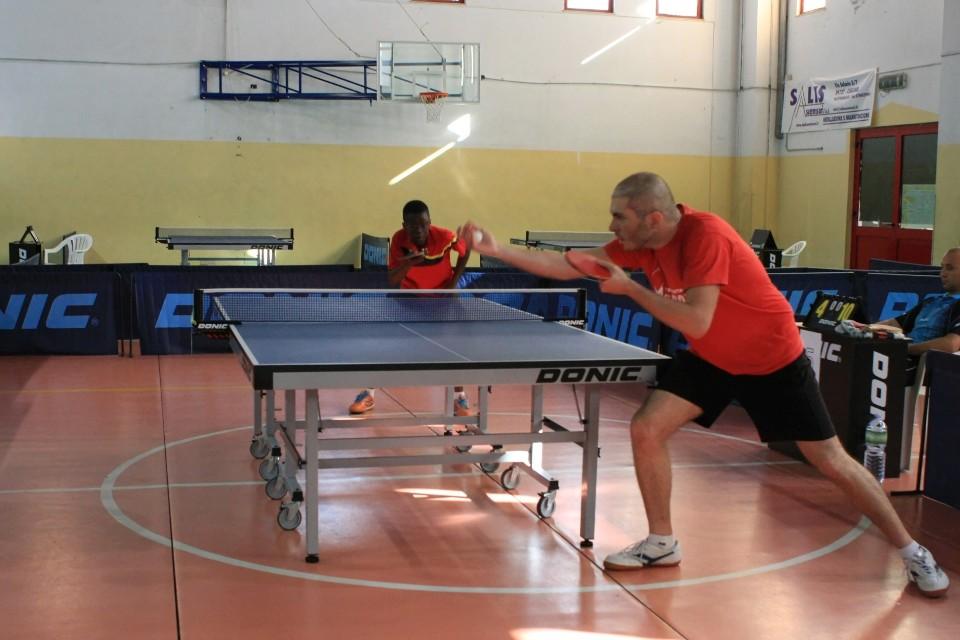 Massimo Ferrero si allena con il suo compagno di squadre Johnny Oyebode (Foto Tomaso Fenu)