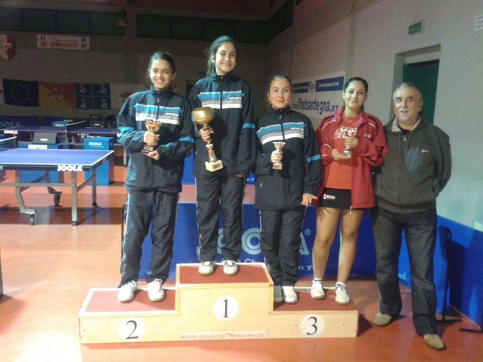 Il podio allievi femminili