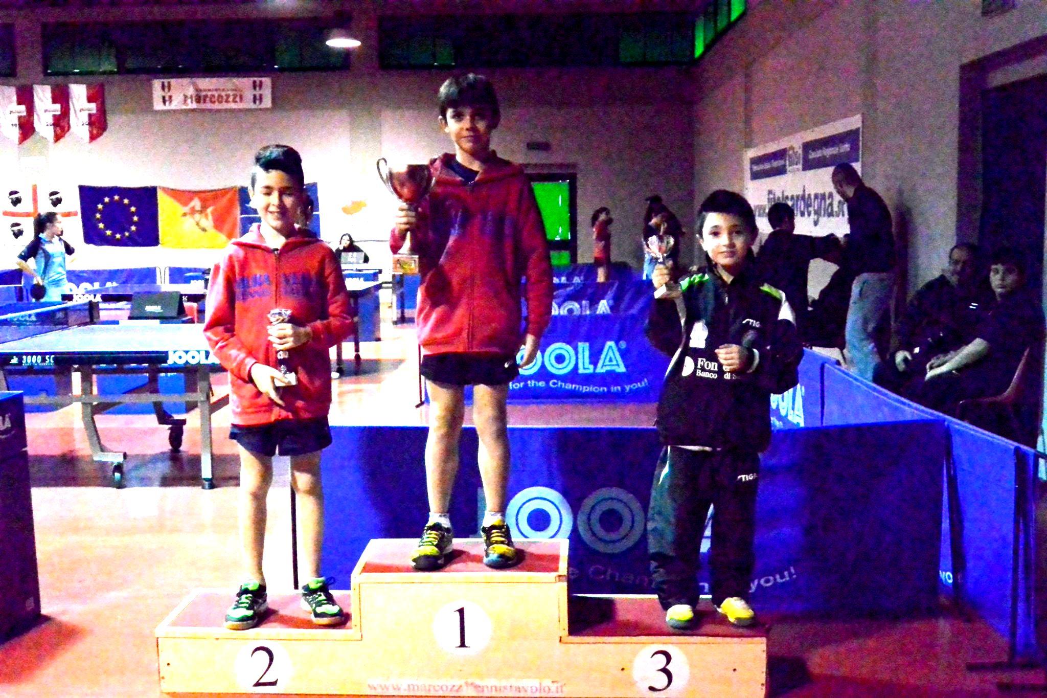 Il podio dei Giovanissimi maschili (Foto Luciano Saiu)