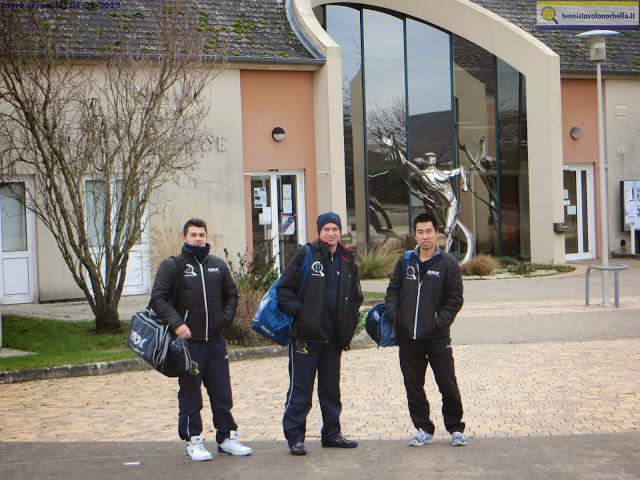 Il trio del Tennistavolo Norbello nellla recente trasferta in Francia pe rla coppa europea TT Intercup (Foto Gianluca Piu)
