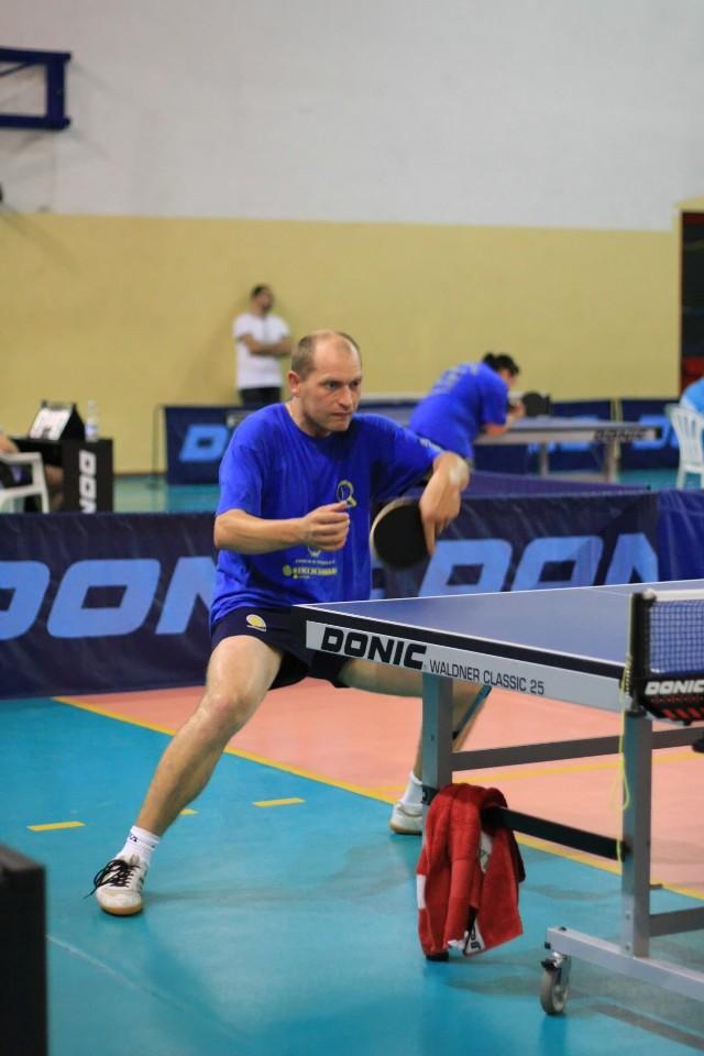 Maxim Kuznetsov del Tennistavolo Norbello (Foto Tomaso Fenu)