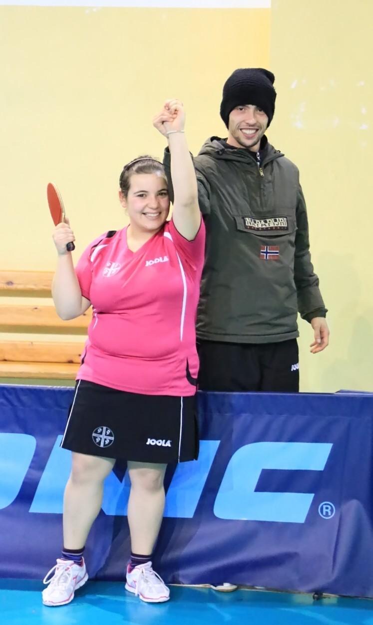 Silvia Deligia con il suo allenatore Mauro Locci (Foto Tomaso Fenu)