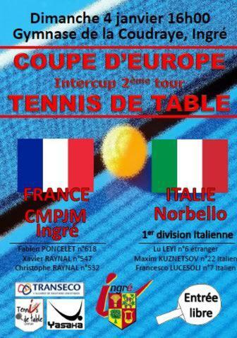 La locandina del match di Coppa in Francia