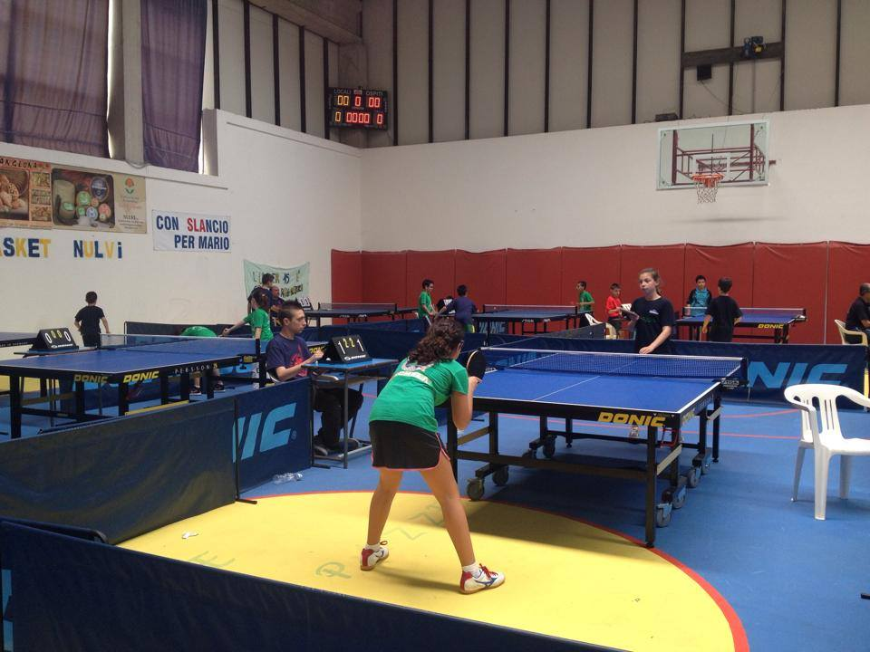Al Palasport di Nulvi si gioca la fase provinciale del Teverino Ping Pong Kids 2015