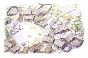 Ricostruzione ipotetica di un villaggio preistorico Foto da leviedellasardegna.eu