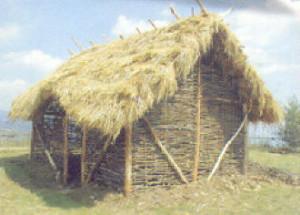 Ricostruzione di una capanna preistorica in legno e paglia Foto da digilander.libero.it