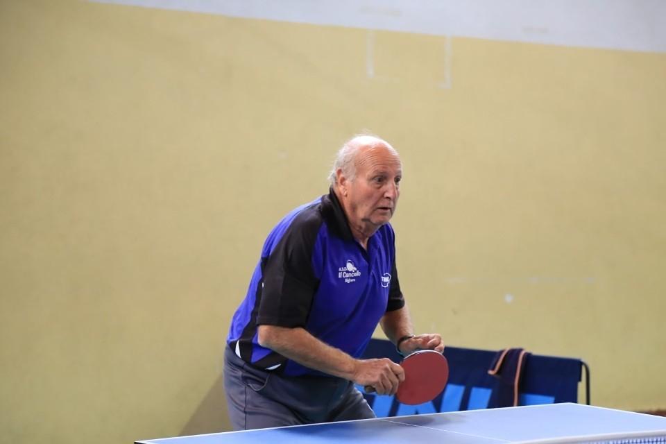 Il patron del torneo internazionale veterani di Bosa Efisio Pisano (foto Tomaso Fenu)