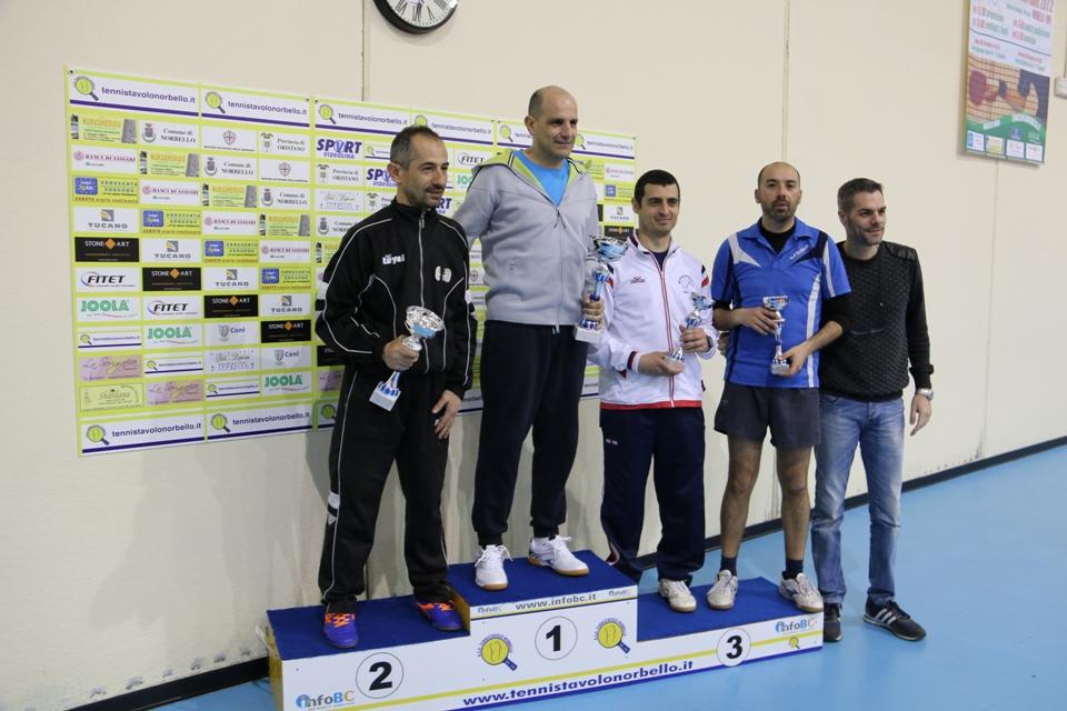 Il podio dei Quarta categoria (Foto Gianluca Piu)