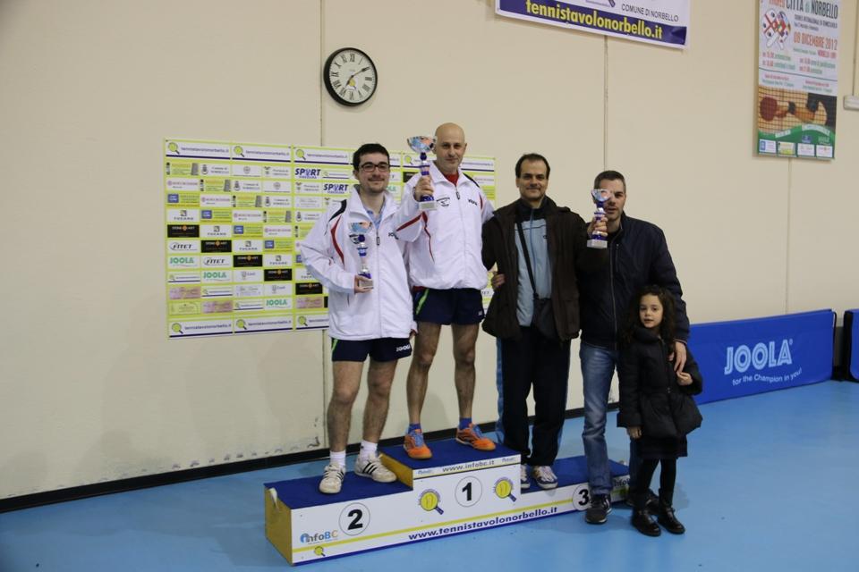 Il podio dei Terza categoria (Foto Gianluca Piu)