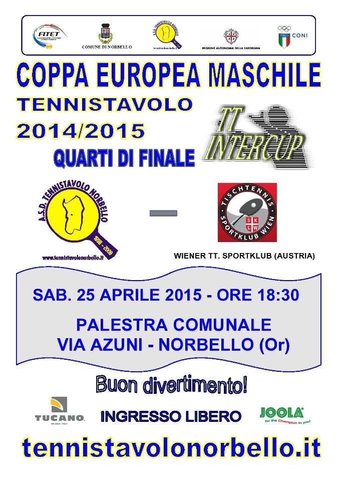 Locandina TT. Intercup 2014-2015 Norbello - Vienna 25-04-2015