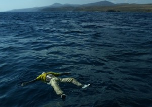 BODY OF DROWNED MIGRANT FLOATS IN THE SEA NEAR FUERTEVENTURA.