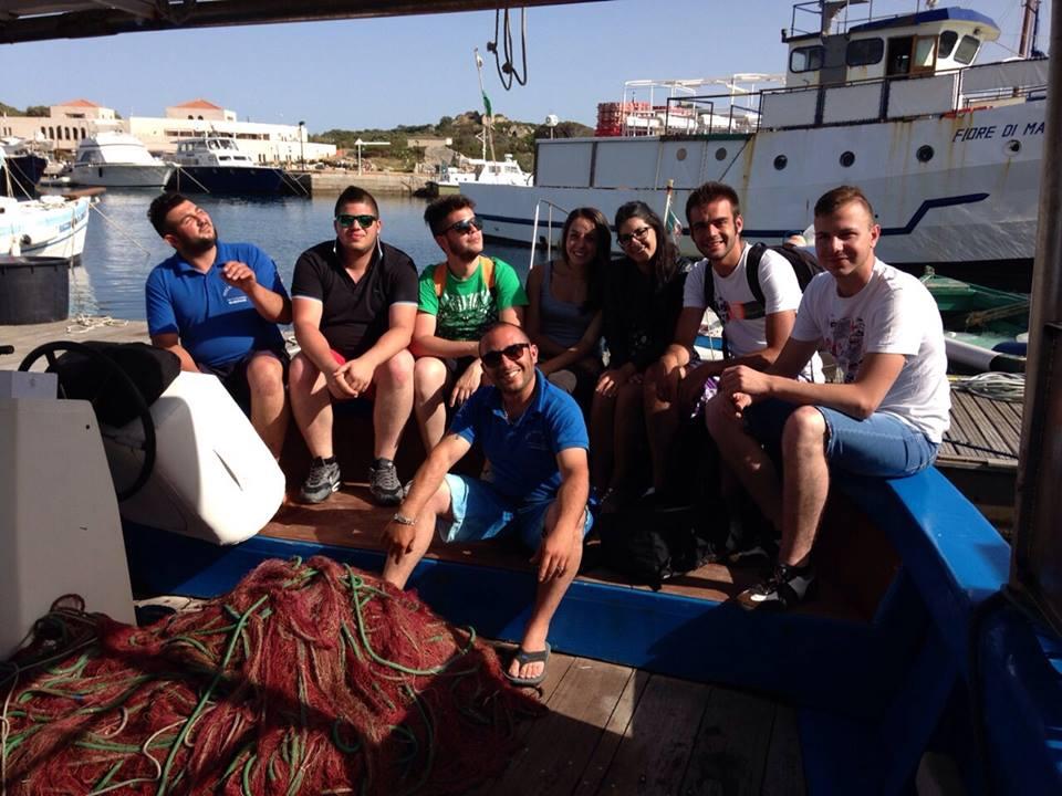 L'equipaggio della Sampey Davide