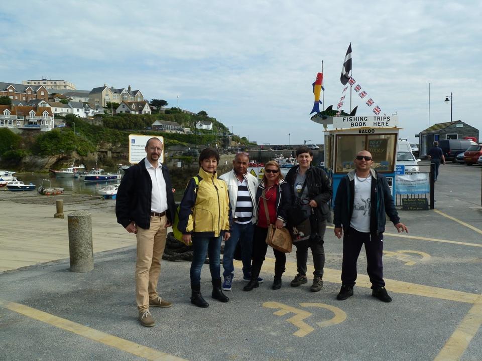Foto di gruppo a St Ives, Gianna Saba è la seconda da dx