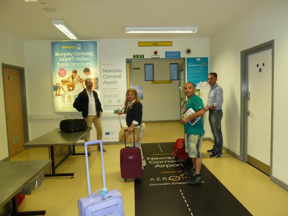 L'arrivo all'aeroporto di Newquay (Foto Gianna Saba)
