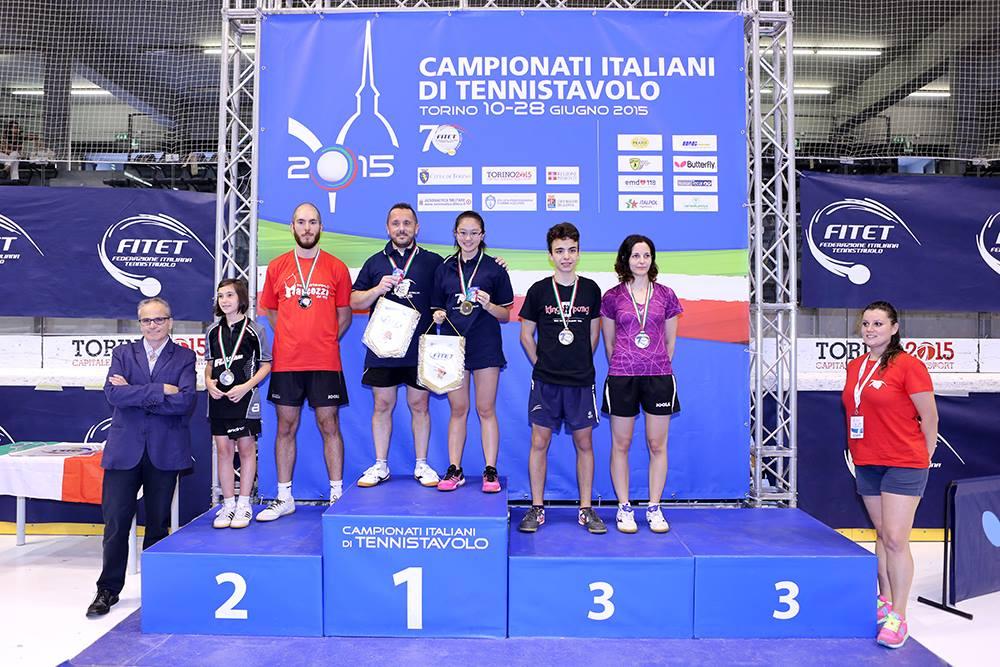 Massimo Ferrero secondo nel doppio misto quarta categoria (Foto Fitet)