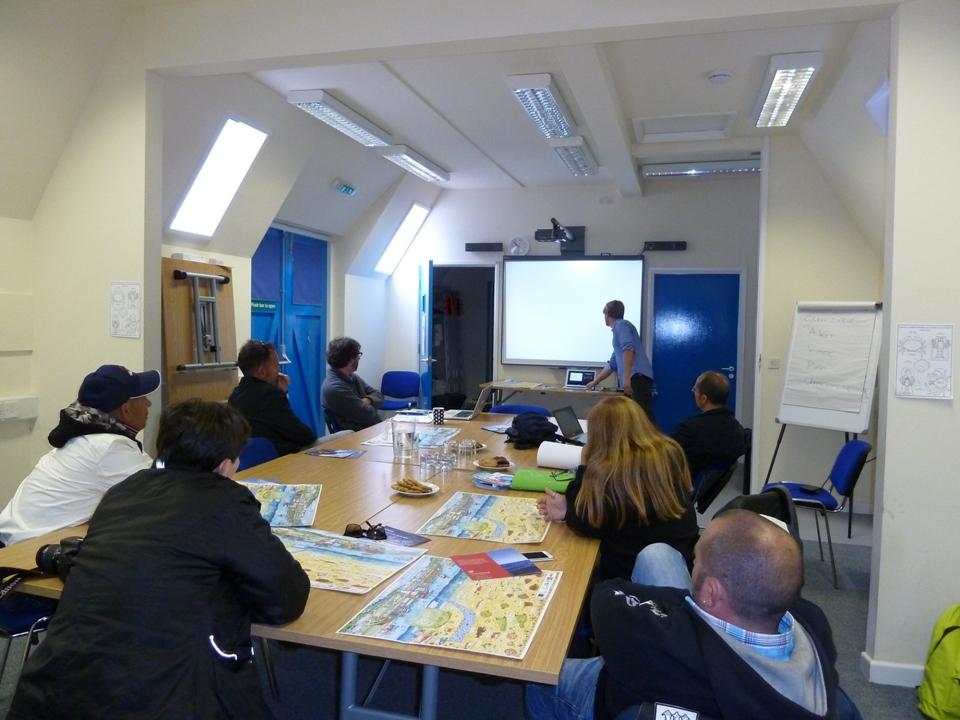 Training presso la sede del Flag della Cornovaglia a Newlyne (Foto Gianna Saba)