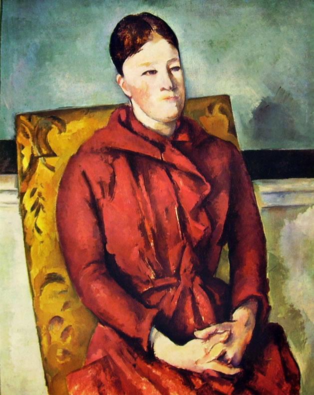 46 Cezanne-la signora Cezanne nella poltrona gialla