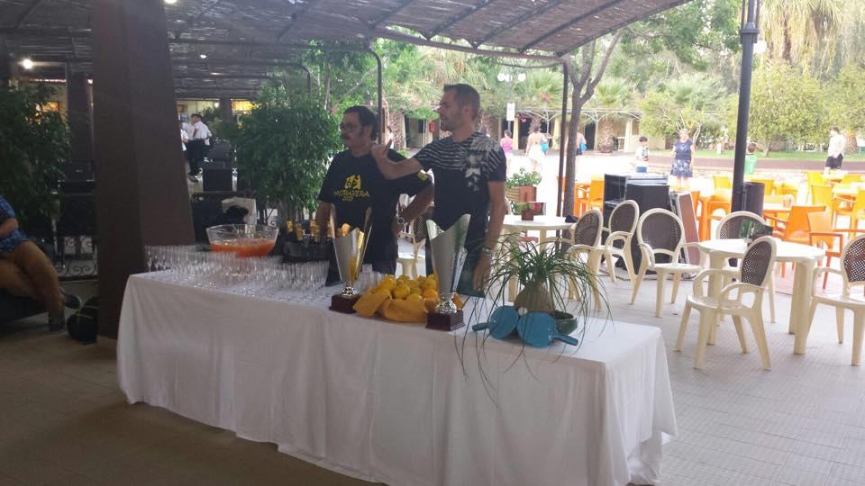 Il presidente del Muravera TT Luciano Saiu e il presidente Fitet Sardegna Simone Carrucciu