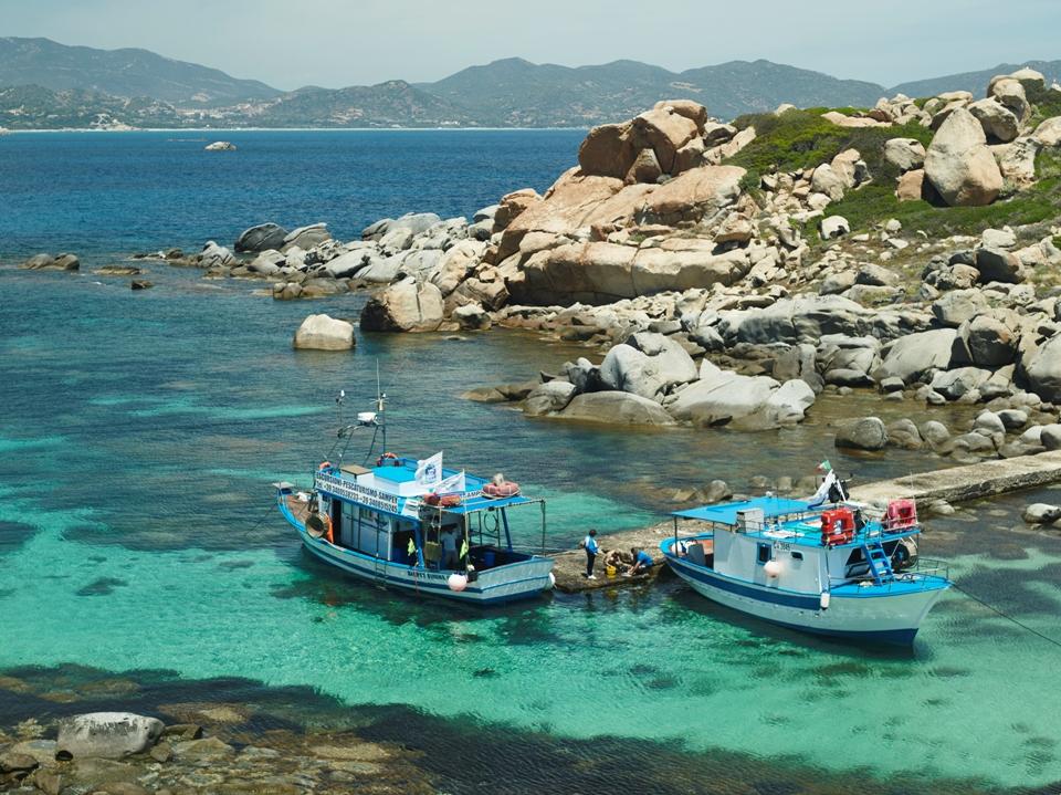 Imbarcazioni di pescaturismo a Villasimius (Foto Chris Lawrence)