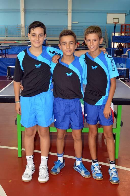 La Nazionale Mini cadet maschile (Foto Luciano Saiu)