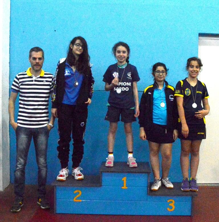 Il podio Giovanissimi Femminile (Foto Luciano Saiu)