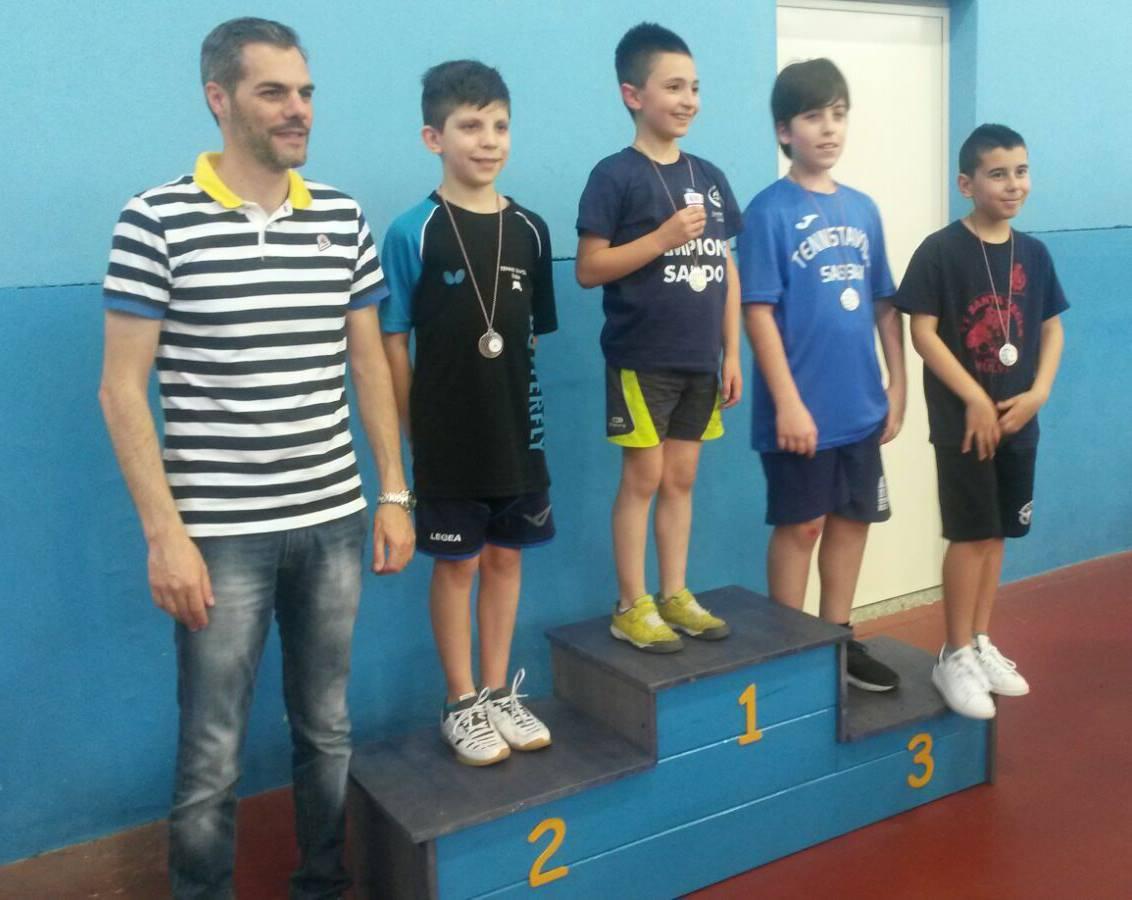 Il podio Giovanissimi Maschile (Foto Luciano Saiu)