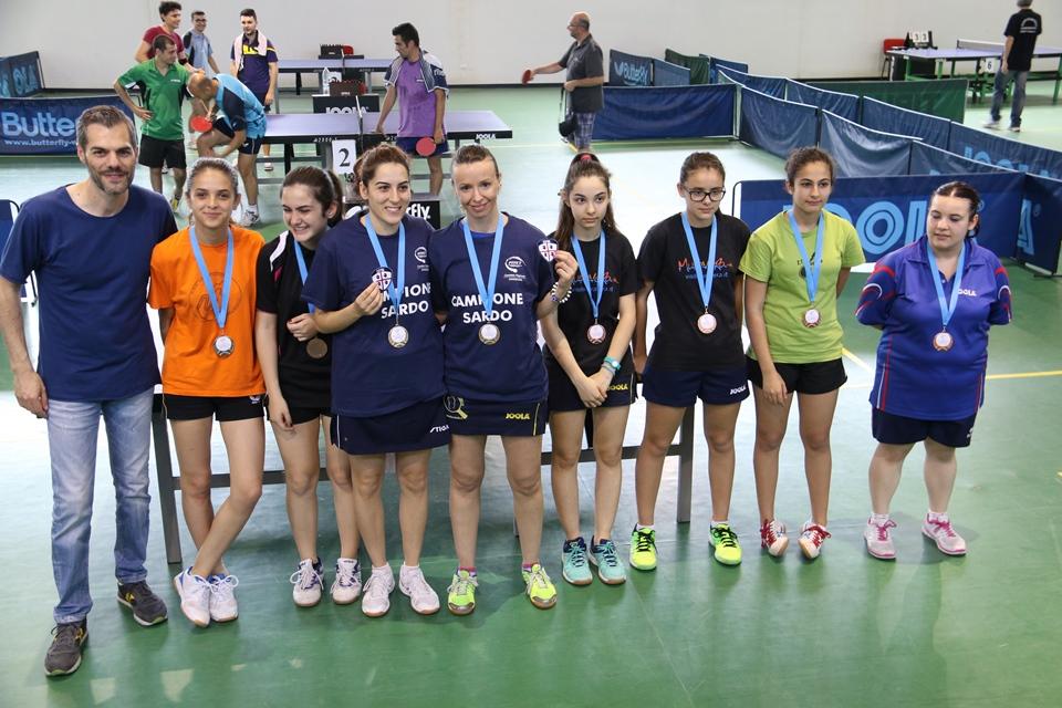 Il podio del Doppio Femminile (Foto Gianluca Piu)