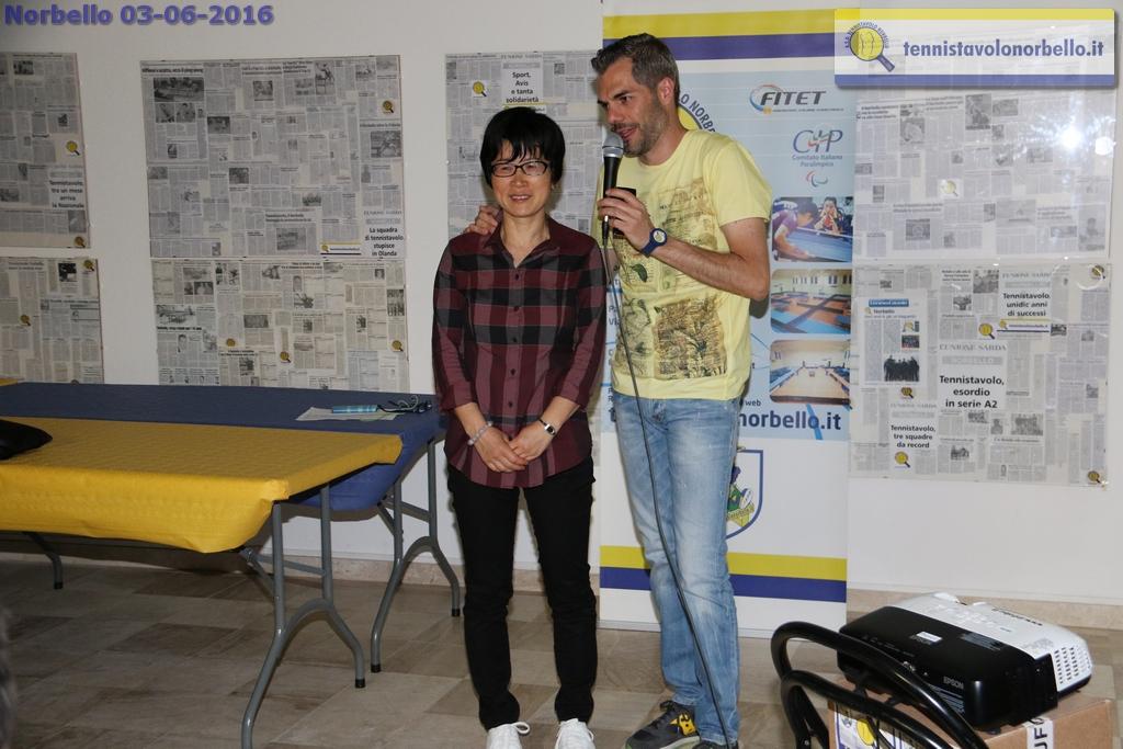 Il presidente Simone Carrucciu conversa con Wei Jian (Foto Gianluca Piu)